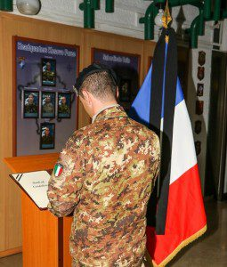 2015 11 15 KFOR soldiers remember France victims.